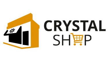 logo Crystal Shop (bílé pozadí)