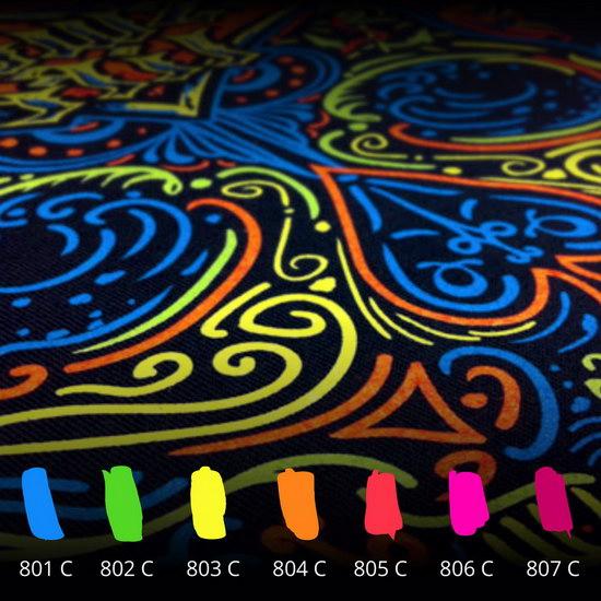 sítotiskový efekt neon