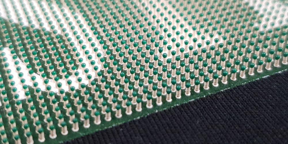 plastický sítotiskový efekt
