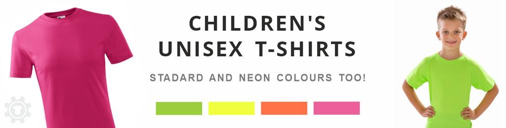 child´s t-shirts neon colours