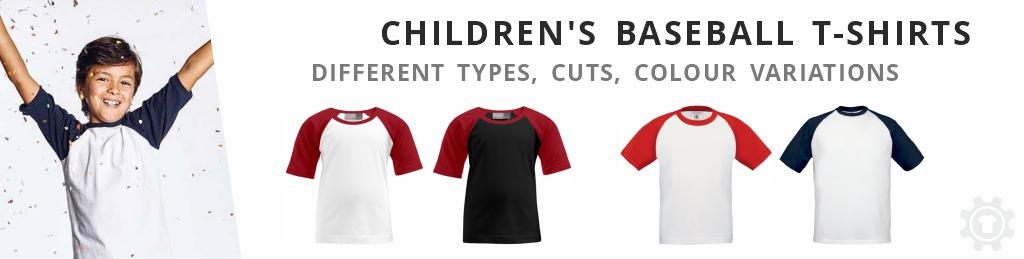 child´s t-shirts baseball