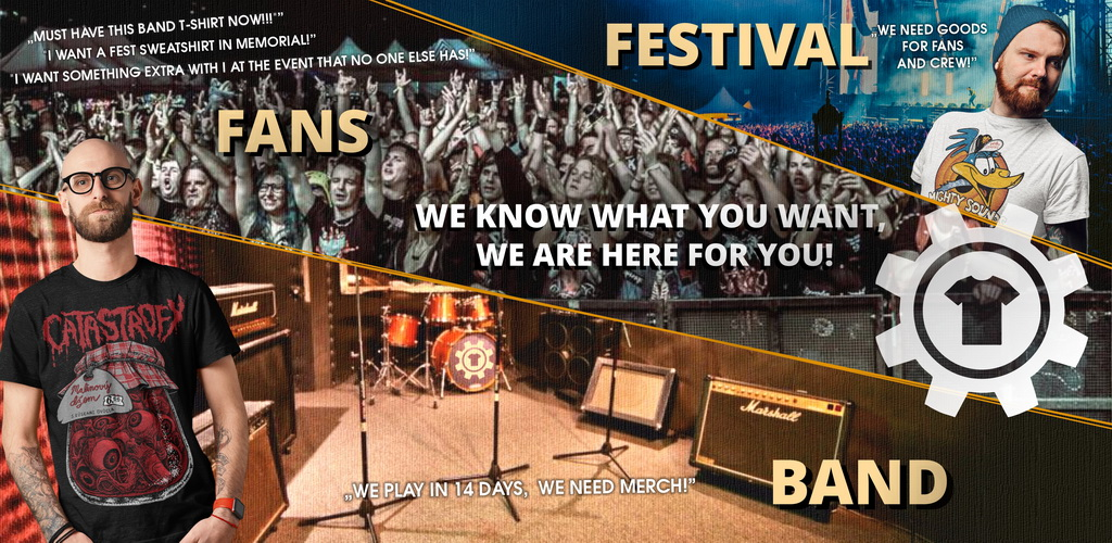 Merch for bands and festivals