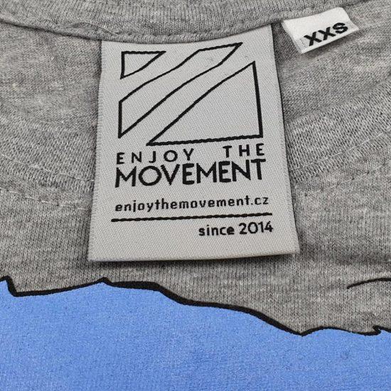 tkaná etiketa Enjoy The Movement