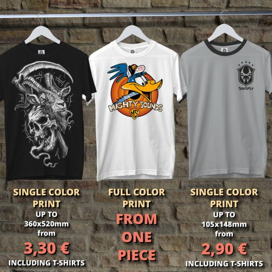 price samples for t-shirts