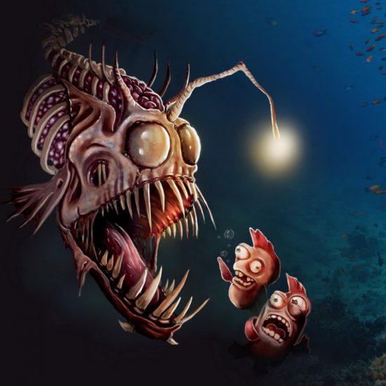 grafika Mořský ďas