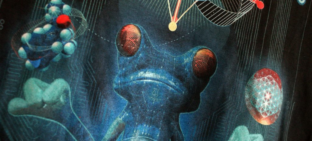 detail potisku Ufo Bufo
