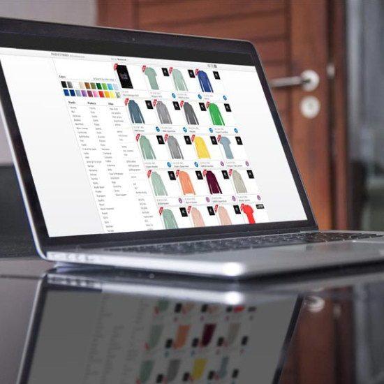 ilustrační obrázek - výběr textilu